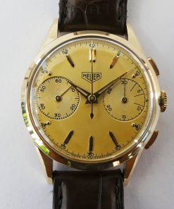 Heuer Chrono 14K Gold