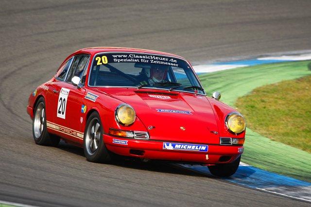 Historic Porsche 911 driver Philip Ring ClassicHeuer advert