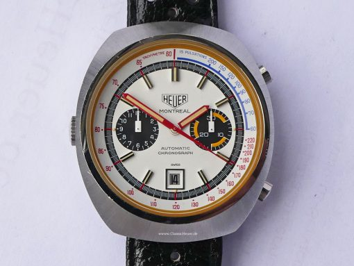 Heuer Montreal White dial NOS Ref. 110.503W