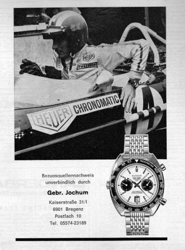 Zeitungsanzeige Werbung Heuer Autavia Chronomatic